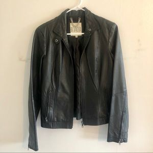 LIKE NEW BB Dakota Black Leather Moto Jacket